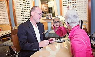 prescription glasses and contact lenses